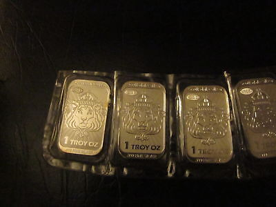 Scottsdale 2013 Niue 999 silver coinbar1 oz- strip of 4 in OMP with antiforgery
