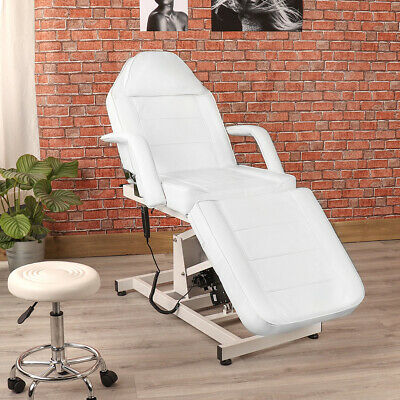 Off White Electric Adjustable Beauty Therapy Salon Treatment Massage Couch Chair
