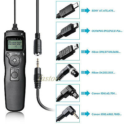 New Wired LCD Timer Remote Control Shutter Release for Nikon D80 D70S MC-DC1 fo