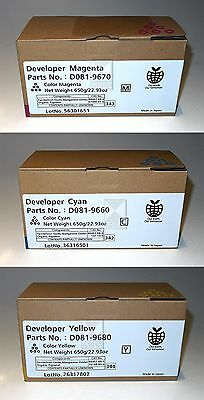 Ricoh Developer Set CMY D081-9660/70/80, für Aficio MP C 6501 / 7501