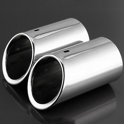 2x Exhaust Tailpipe Trim Tip for Audi Audi Q5 2.0T, A4 B8 1.8T 2.0T