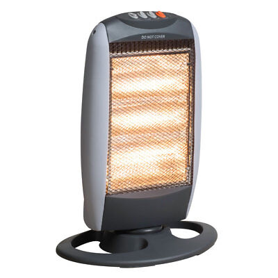 1200W Portable Electric Oscillating Halogen Heater 3 Bar Quartz Home Office