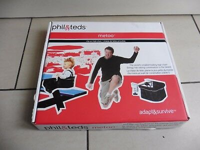 Phil & Teds Metoo Clip on Table Folding Travel High Chair. Red. In box