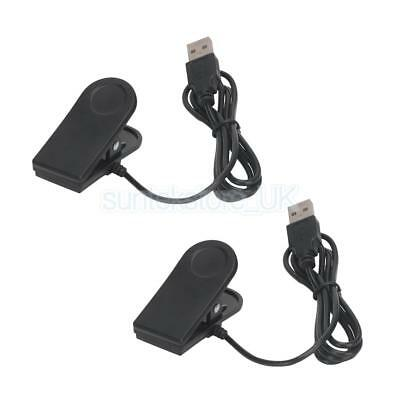 2Pack 1m USB Charging Data Clip Cable Line for Garmin forerunner 35 Watch