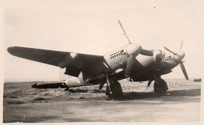 DQ879 Photographie photo vintage snapshot avion aviation militaire