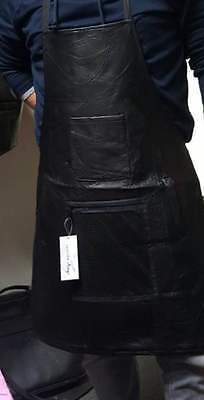 Leather Bib Style Apron in Real Leather