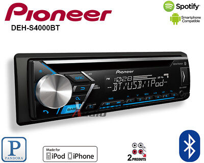 Pioneer DEH-S4000BT CD Receiver iPhone Android Bluetooth Pandora