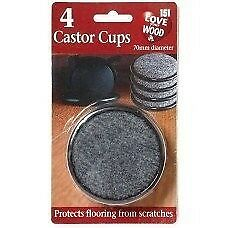 8 Castor Cups /2 Packs of 4 by love your wood