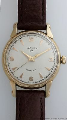 Large Hamilton Unusual CLD Automatic Vintage Gold Filled Mens Wrist Watch