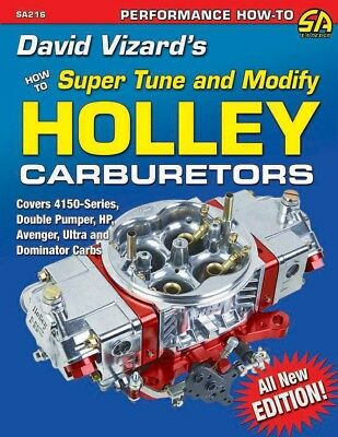 S-A Books David Vizard's How to Super Tune and Modify Holley Carburetors P/N 216