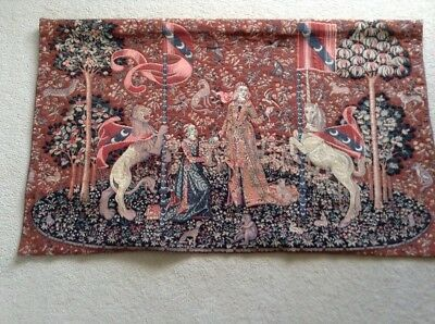 Medieval Style Lady And Lion Hanging