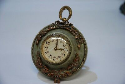 Rare Miniature Marble 8 Day Wall Clock
