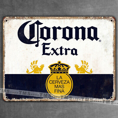CORONA EXTRA BEER VINTAGE KITCHEN METAL SIGN RETRO PLAQUE tinGARAGE BAR MAN CAVE