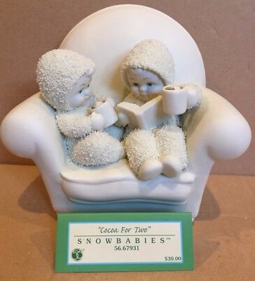 "Snowbabies Sentiments ""Cocoa for Two"" 2007 Retired GUC in Box Dept. 56"
