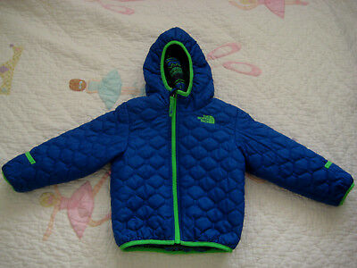 The North Face boy baby jacket reversible hooded 18-24M Blue