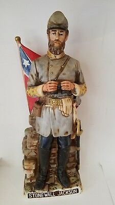 STONEWALL JACKSON WHISKEY DECANTER VINTAGE McCORMICK THE CONFEDERATED SERIES