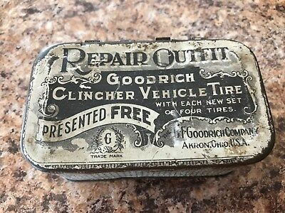 Antique Goodrich Clincher Tire Tin  >>Early 1900s and Cool<<