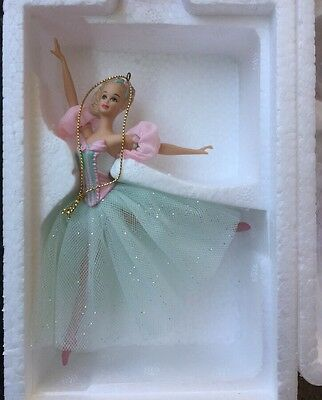 Set of 4 Avon Barbie Porcelain Ornaments 1997, 1998, 1999 & 2001 Original Boxes