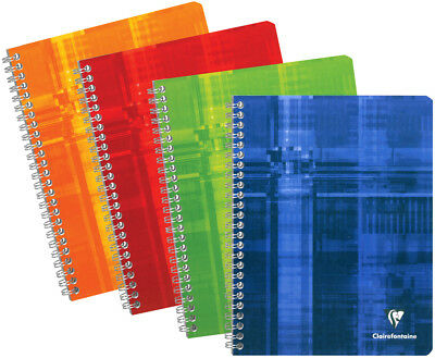 "Clairefontaine 68141 Wirebound Notebook, 8.25"" x 11.75"", French Ruled"