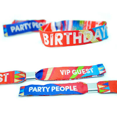 BIRTHDAYFEST Birthday Party Wristbands Favours ~ Festival Party Wristbands