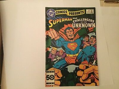 DC Comics presents Superman and Challengers of the Unknown -Kirby cover # 84