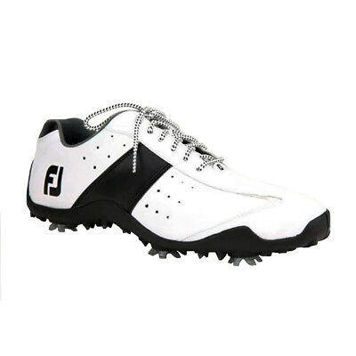 Mens FootJoy LoPro Waterproof Closeout Golf Shoes 56895 White / Black - Any Size