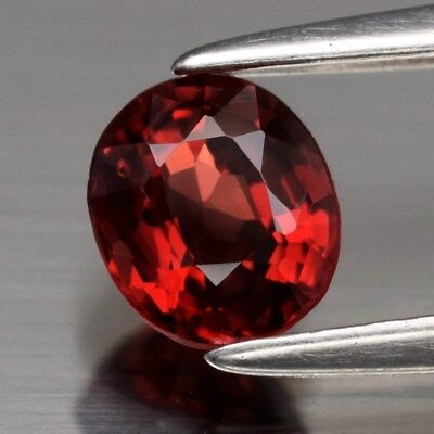Clean! 0.62ct 5.4x4.6mm VVS Oval Natural Orangish Red Spinel, M'GOK