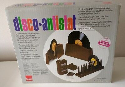 Disco Antistat by KNOSTI vinyl record cleaner-boxed all accessories-RELISTED!!