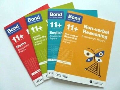 KS1 English Maths Reasoning Bond 11+ Assessment Papers Ages 6-7 Year Pack of 4