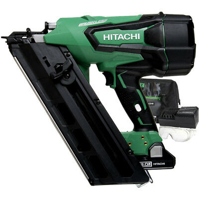 "Hitachi NR1890DC 2"" to 3-1/2"" 18V Cordless Paper Strip Framing Nailer New"