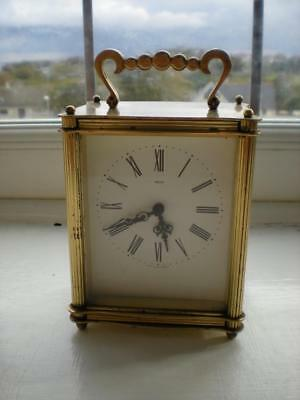 Vintage Smiths Brass Cased Battery Powered Carriage Clock