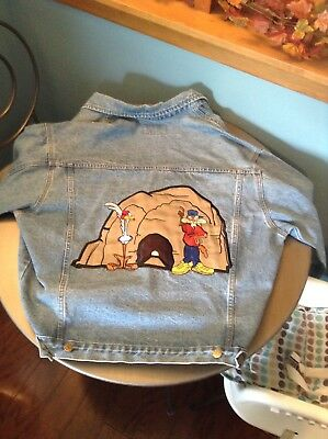 Top Line 1992 RoadRunner and Wile E Coyote Looney Tunes Jean Jacket Size XL New!