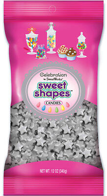 Celebrations By SweetWorks Sweet Shapes(TM) 12oz-Shimmer (TM) Silver Stars
