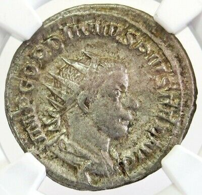 238 - 244 Ad Silver Roman Double Denarius Gordian Iii Coin Ngc Choice Very Fine