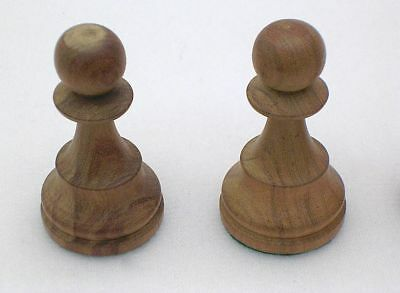 """Vintage 2"""" Hand-Carved LIGHT Maple WOOD PAWN Replacement CHESS Set PIECES"""