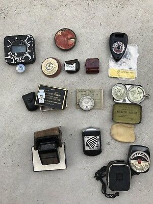 Huge LOT of Antique & Vintage Light Exposure Meter s for Film Camera Wynne's Etc