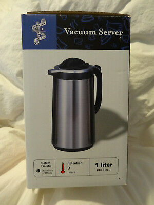Vacuum Insulated 1 L Carafe By Service Ideas Stainless Steel Coffee Tea Server