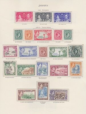 Jamaica Stamps Old Time Page King George Vi Mint & Used Including High Values