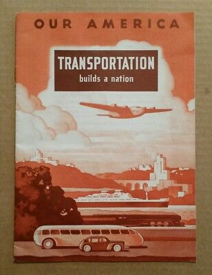 """Transportation"" Our America Coca-Cola Trade Card Album,Complete,1943"