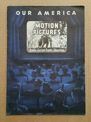 """Motion Pictures"" Our America Coca-Cola Trade Card Album,Complete,1943"