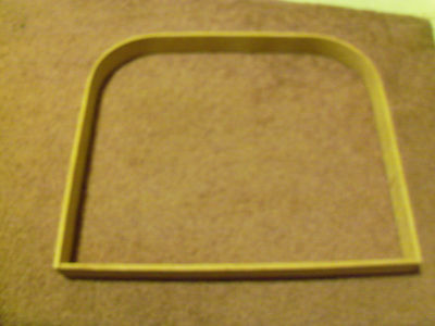 12 inch wide 10 1/4 inch Tall Basket Handle Wooden