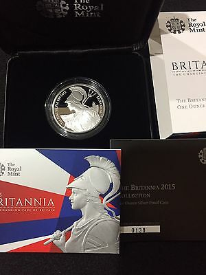 Great Britain 2015 £2 Britannia 1oz Silver Proof in OGP, In Excellent Condition!