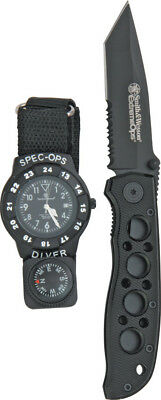 New Smith & Wesson Special Ops Watch/Knife Combo SWWSO2