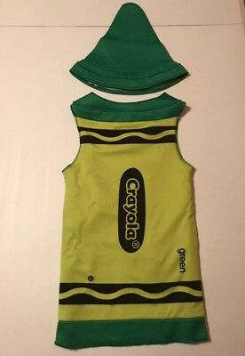Pre-Owned! Green Crayon Child Costume Size S(4-6)