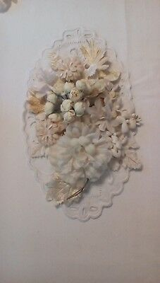 Vintage Millinery Hat Flowers Off White/Beige 18+ pieces Gorgeous  ***SALE***