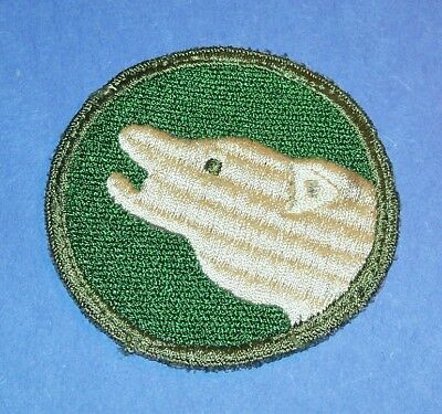 RARE ORIGINAL CUT-EDGE POST WW2 GERMAN MADE 104th INFANTRY DIVISION PATCH