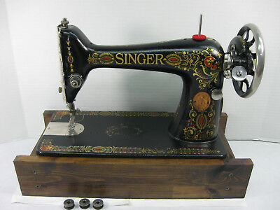 "1919 Singer Treadle ""Red Eye"" 66-1 Sewing Machine(Head only) Back-clamp Bobbins"