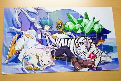 F2158+ Free Mat Bag Yugioh Jesse Anderson Crystal Beast TCG Playmat With Zones