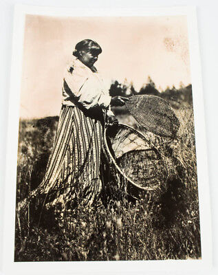 Native American Indian Woman W/ Basket 7X10 Photo From Field Museum Chicago