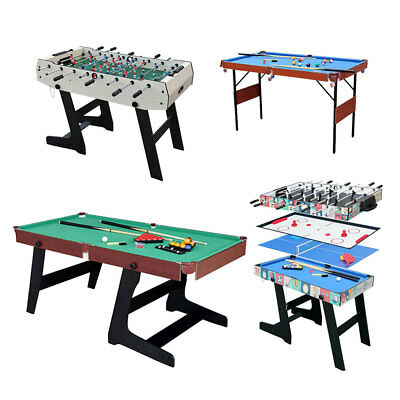 6ft Snooker Pool Table Game Table Billiard 4ft Air Hockey Football Table Home